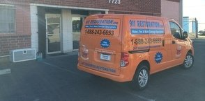 Water Damage Iowa Colony Van Being Prepped