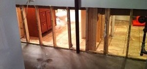 Wall Restoration Due To Water and Mold Damage