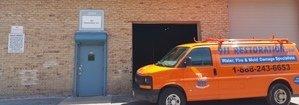 Water Damage League City Restoration Van Parked Outside Headquarters