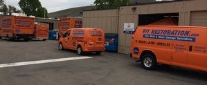 Water Damage and Mold Removal Vehicles at Headquarters