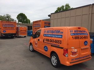 Water Damage Missouri City Fleet Outside Headquarters