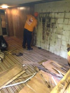 Water Damage Restoration Moldy Wall Repair