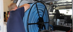 Water Damage League City Technician Prepping Suction Hoses
