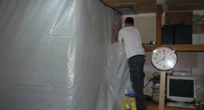 Water Damage Iowa Colony Sealing In Mold With A Vapor Barrier